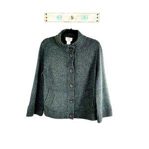 Talbots M Gray Cashmere Blend Cardigan Sweater